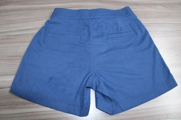 Shorts Azul Marinho Com Ilhós Smel