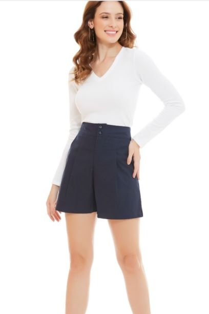 Shorts Sarja com Bolso