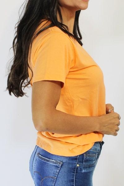 T-shirt Anneliz Laranja Estampa Be You