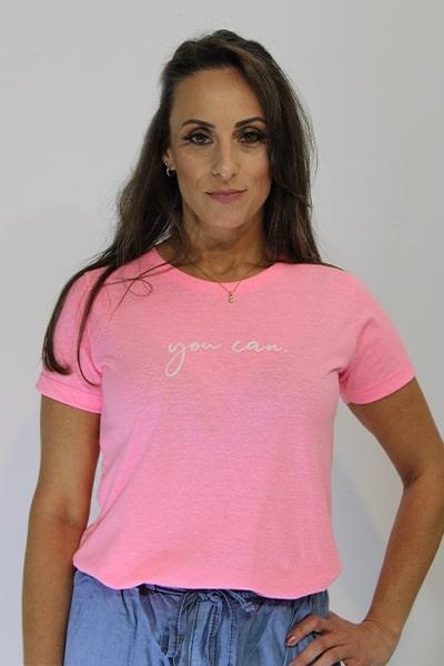 T-shirt Anneliz Pink Estampada You Can