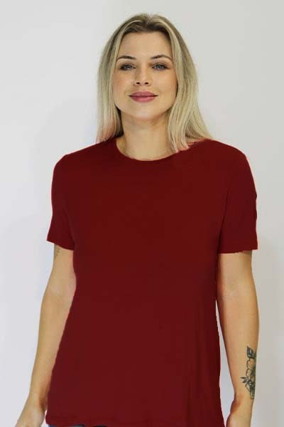 T-shirt básica Natural Island Meia Malha Algodão - VÁRIAS CORES