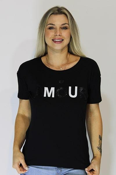 T-shirt Doce Trama em Viscose Estampada