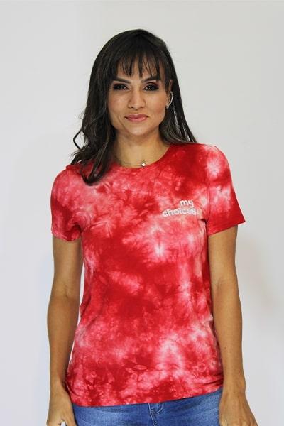 T-shirt Natural Island Tie Dye Viscolycra