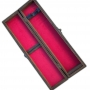 Estojo de Madeira Luxo Porta Faca Forro Veludo Tam 10 Pol