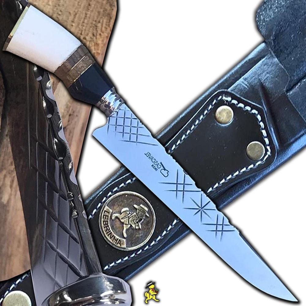 Conj. Faca Churrasco 4mm Kit Tridente Gravação Grátis 12 Pol