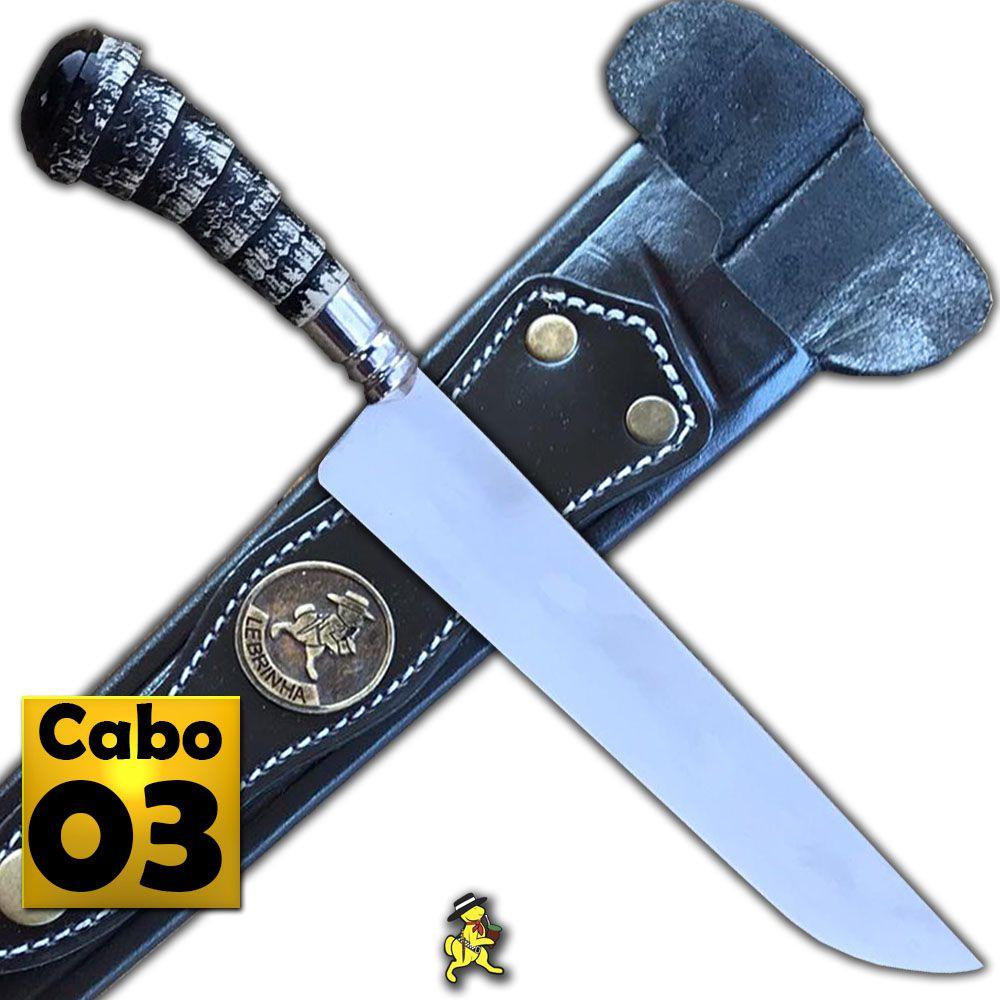 Faca Artesanal Gaúcha Picanheira Cabo de Cervo e Chifre
