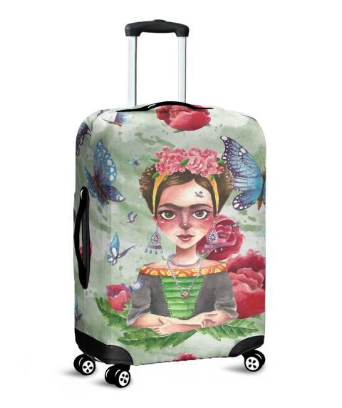 Capa para Mala Frida Flores e Borboletas