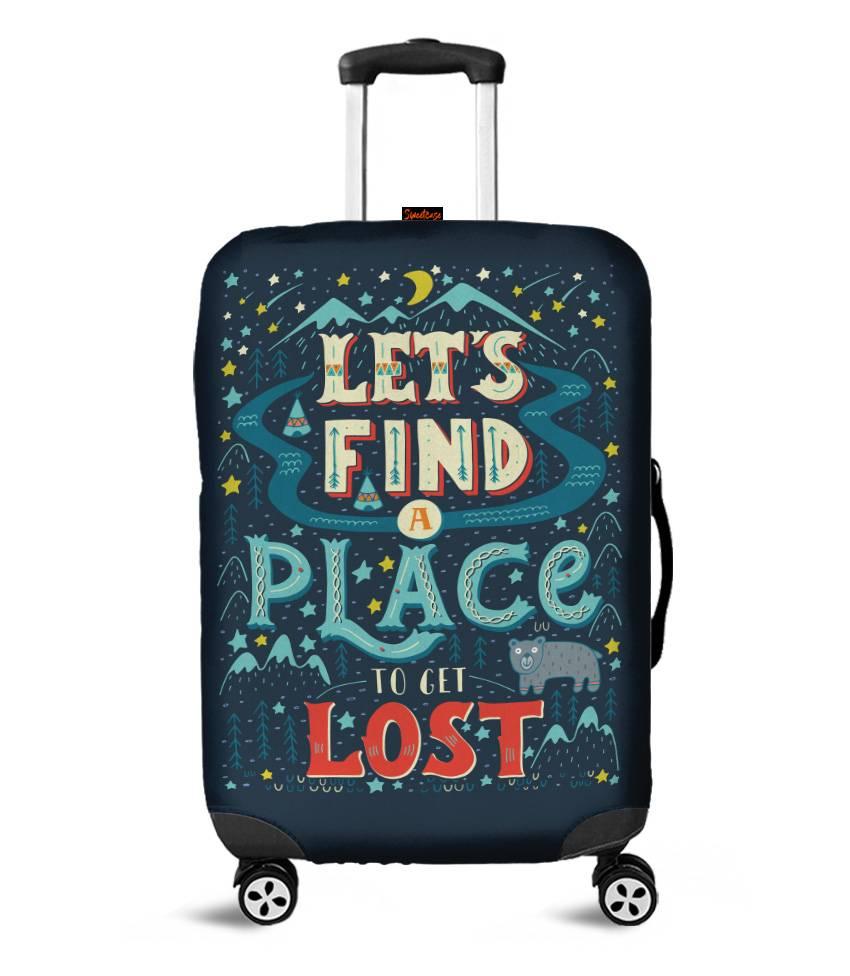 Capa para Mala Let's find a place to get lost - Pronta Entrega