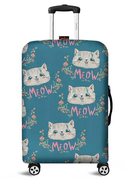 Capa para Mala Meow Azul