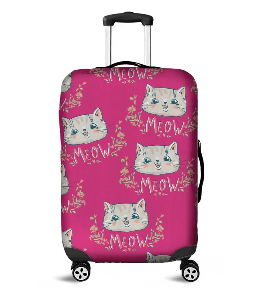 Capa para Mala Meow Pink