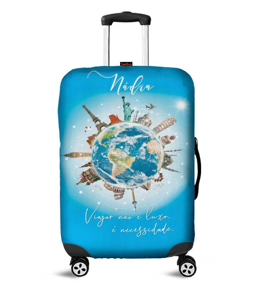 Capa para Mala Personalizada Viajar é uma Necessidade