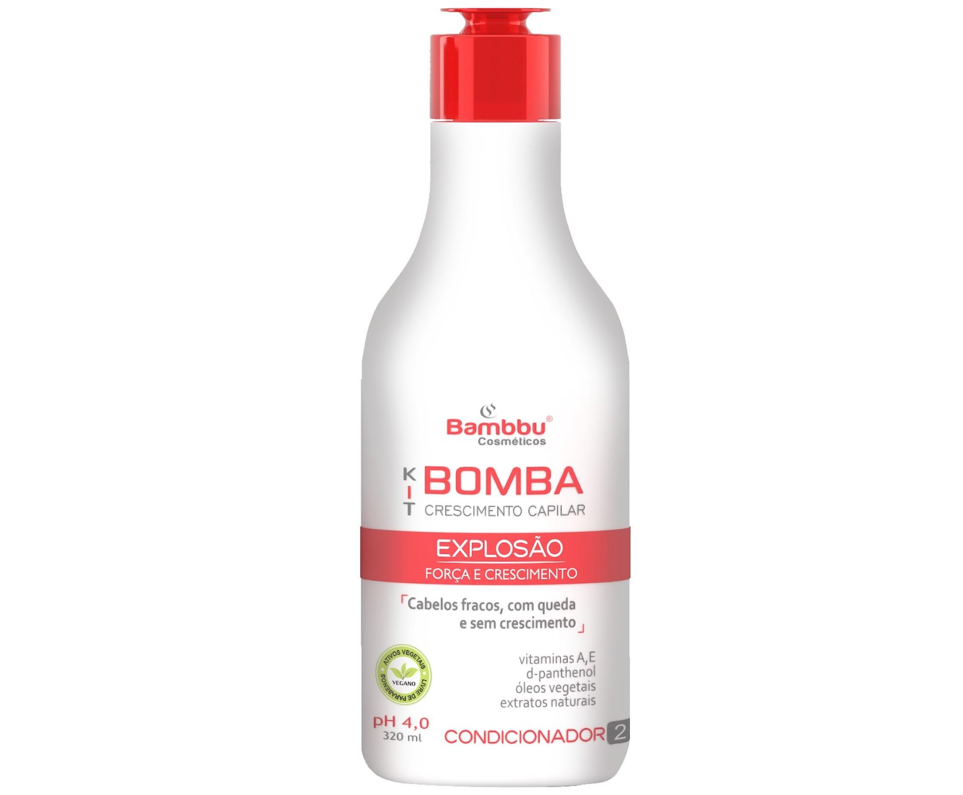 Condicionador Acelerador de Crescimento Capilar e Anti Queda 320 ml - Kit Bomba