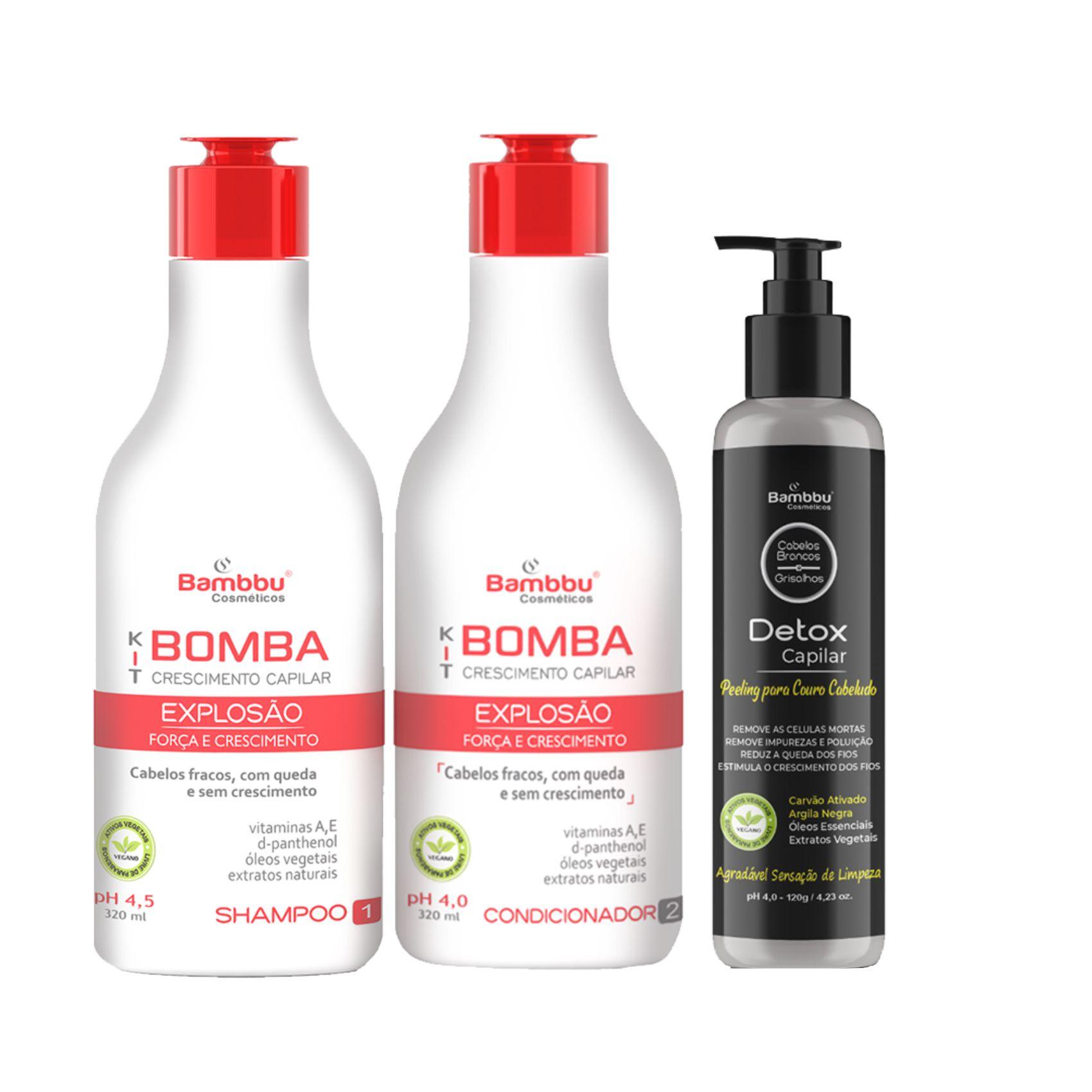 Kit Bomba Crescimento e Detox Capilar Couro Cabeludo (Kit Bomba 2 passos)