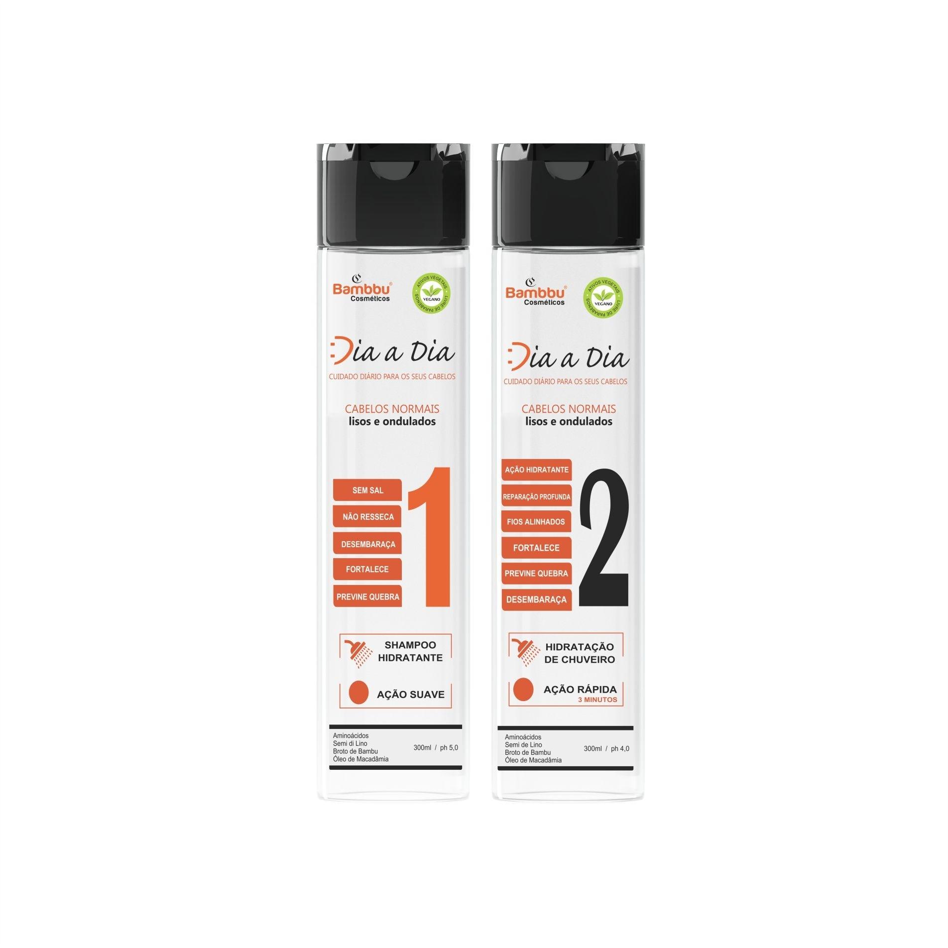 Kit Manutenção Diária - Shampoo e Condicionador Hidratante para Cabelos Brancos e Grisalhos