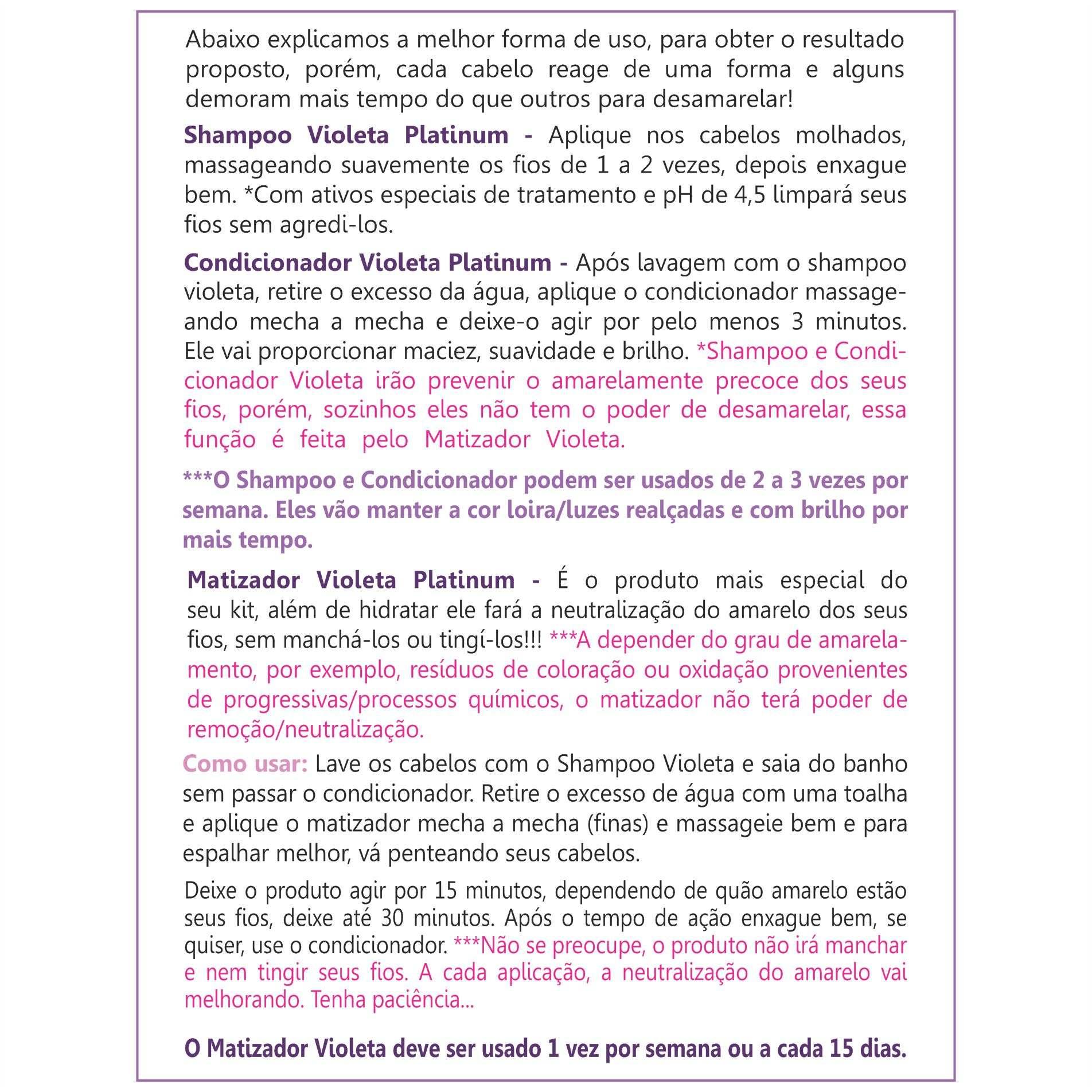 Kit Violeta Desamarelador -  Loiros, Descoloridos e com Luzes