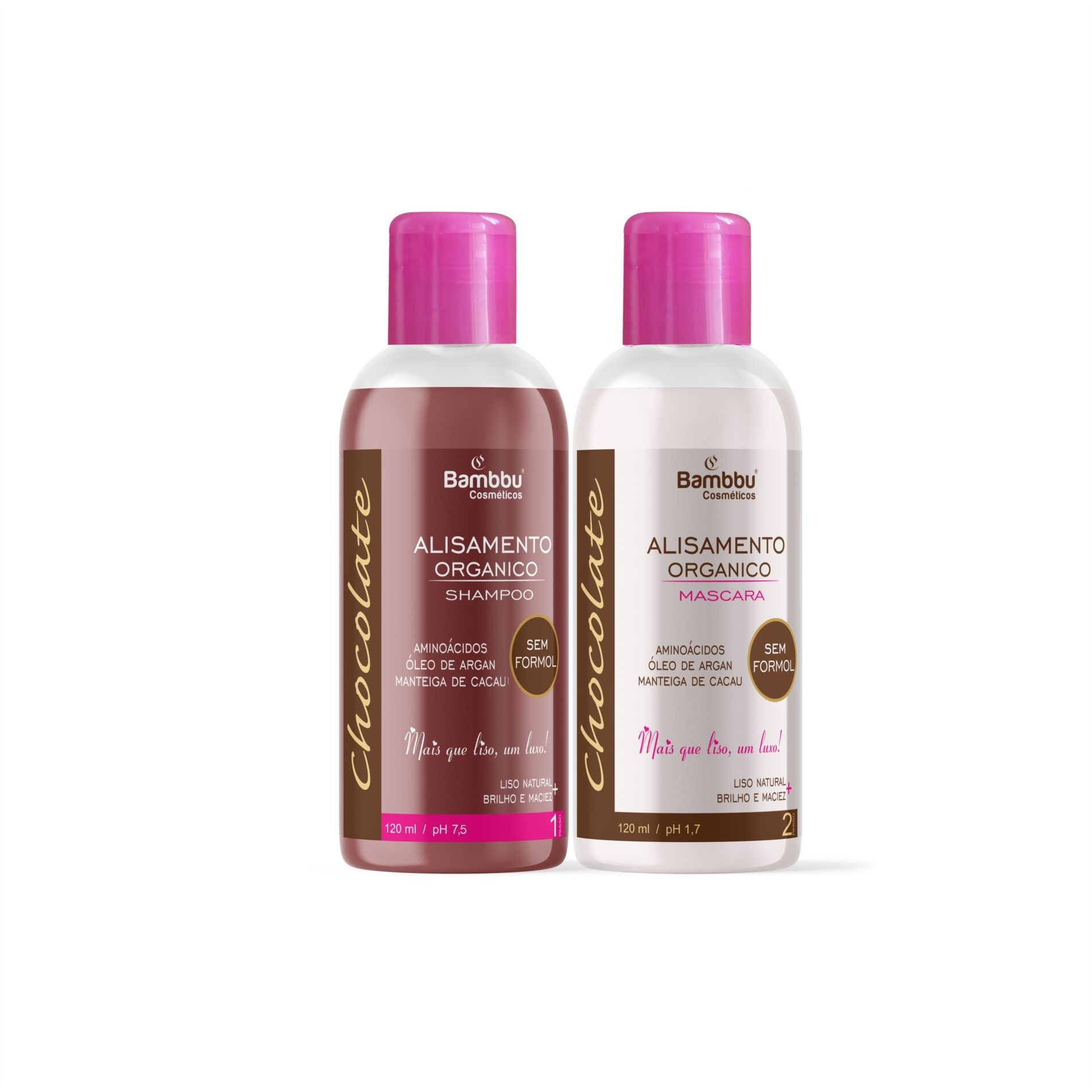 Progressiva Orgânica - Dose Unica 120ml - Shampoo e Mascara de Alisamento