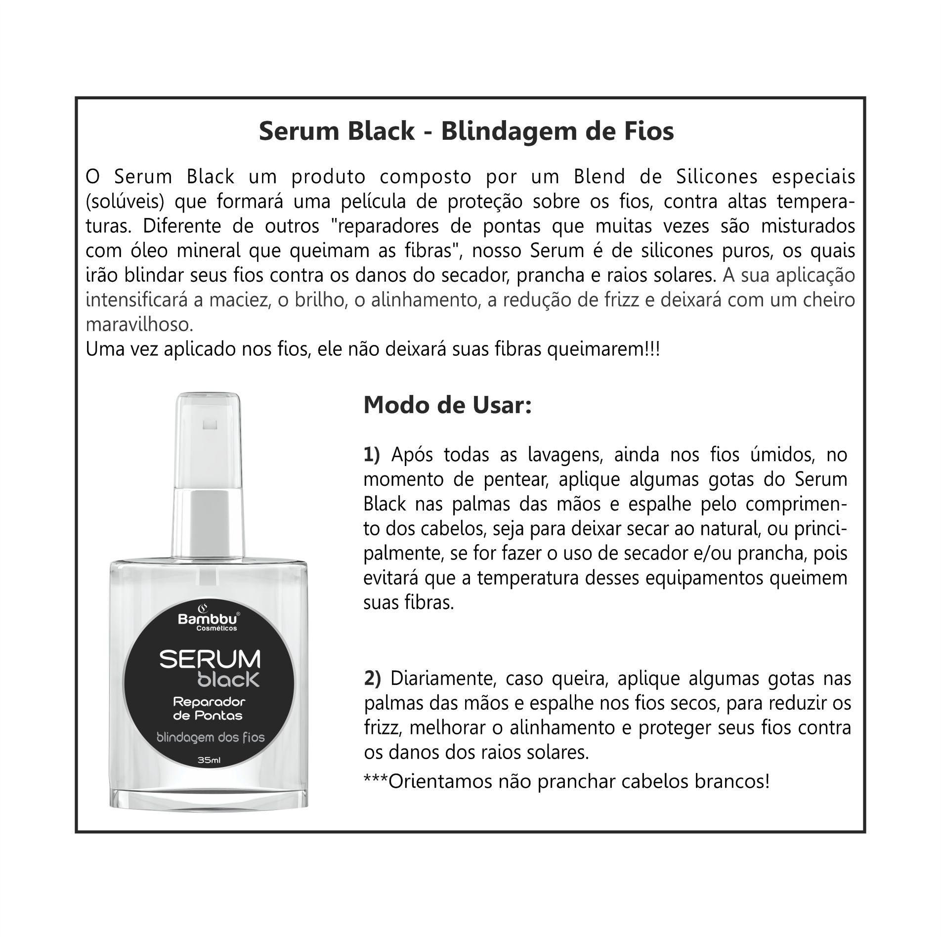 Serum Black - Blindagem de Fios e Reparador de Pontas 35 ml