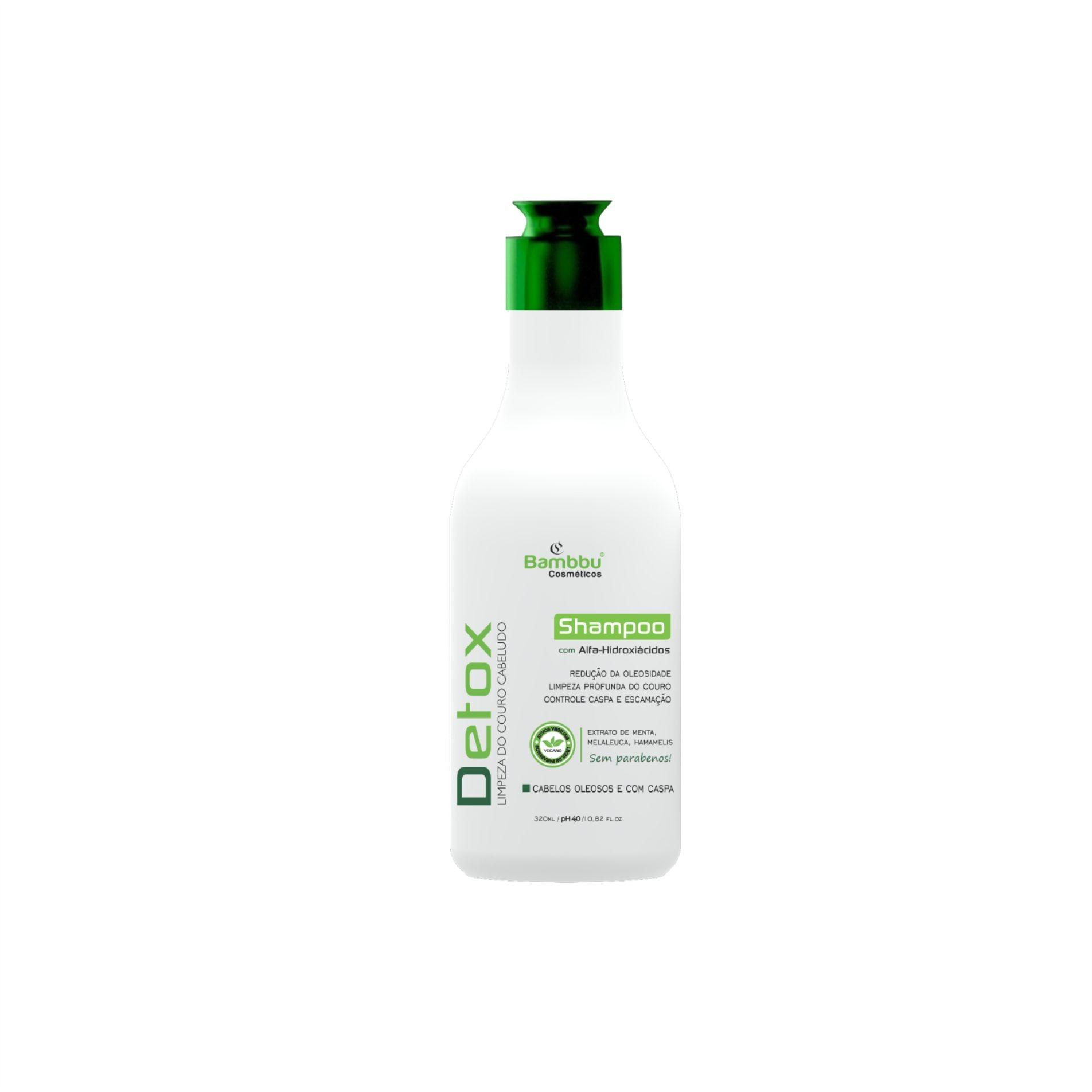 Shampoo Anti Oleosidade, para cabelos oleosos e com caspa - couro cabeludo