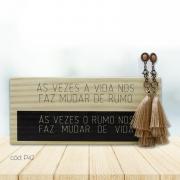 Kit Decorativo de Mesa e Brincos com Franja Artesanais