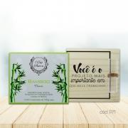 Kit Decorativo de Mesa e Sabonetes em Barra Bamboo