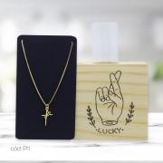 Kit Decorativo de Mesa Lucky e Colar Semi Jóia Fé