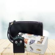 Kit Mini Bag com Brincos de Argola Trançada e Sabonetes Variados