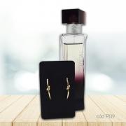 Kit Perfume Essencial Exclusivo e Brincos Folheado Detalhe em Nó