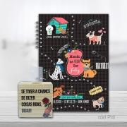 Kit Planner Compacto Mensal Cachorro Amigo e Decorativo de Mesa