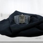Kit Relógio Bracelete e Lenço Artesanal Preto