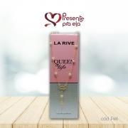 Kit Eau de Parfum Queen Of Life e Colar Folheado Terço com Pérolas
