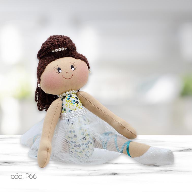 Boneca Artesanal Bailarina Espacate Exclusiva