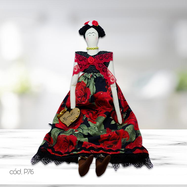 Boneca Artesanal Tilda Frida Exclusiva