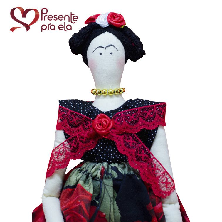 Boneca Artesanal Tilda Frida Exclusiva