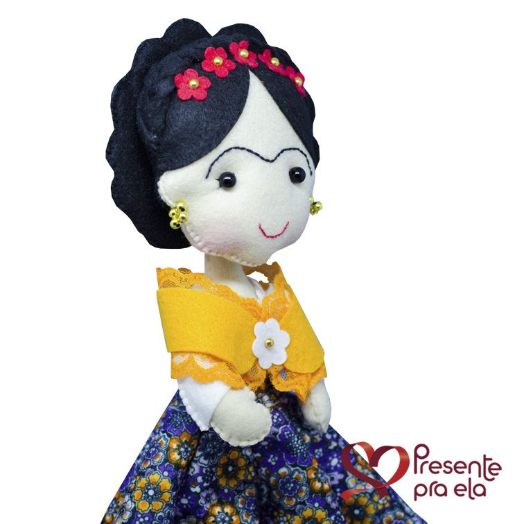 Boneca Artesanal Frida Exclusiva
