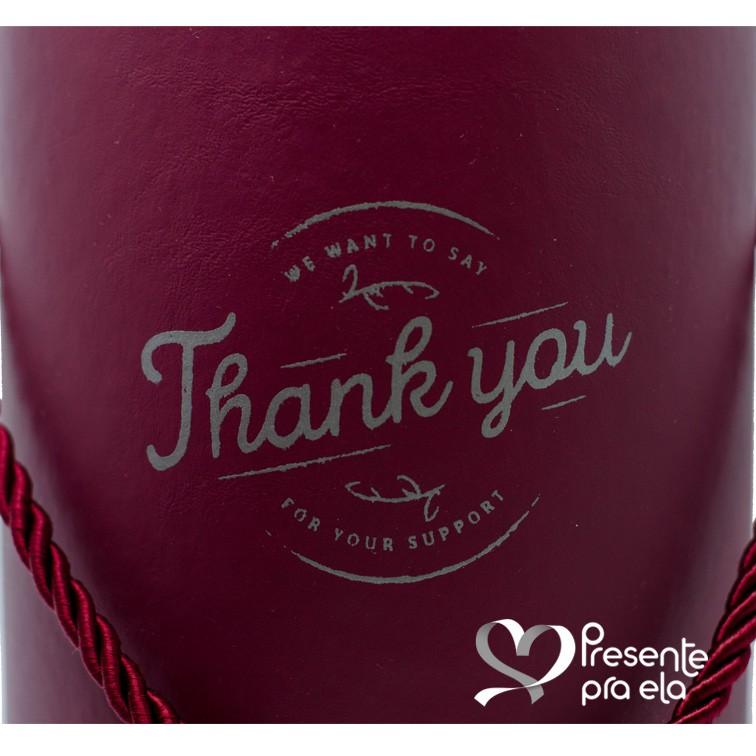 Kit Vela Perfumada com Caixa Cachepô Decorativa Thank You e Florida