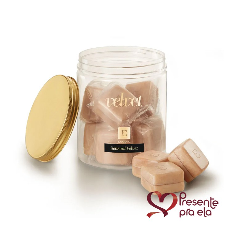 Kit Mini Sabonetes Perfumados Sensual Velvet e Colar Folheado Círculo com Zircônia