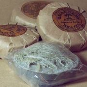 Sabão esfoliante natural com fibras de sisal
