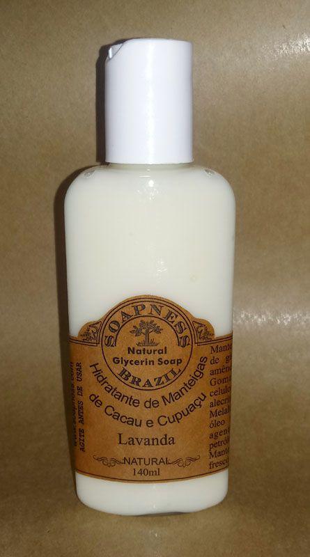 Creme Hidratante de Manteigas de Cacau e Cupuaçu com Lavanda