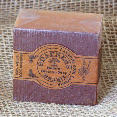 Sabão de Banho Natural de Lavanda com Laranja e Argila
