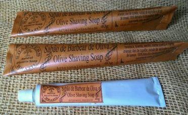 Sabão de barbear de óleo de oliva