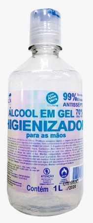 ALCOOL EM GEL 70%  HIGIENIZADOR 1000ML LE SALON