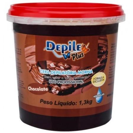Cera Depilatória Chocolate 1,3 KG Hidrossolúvel