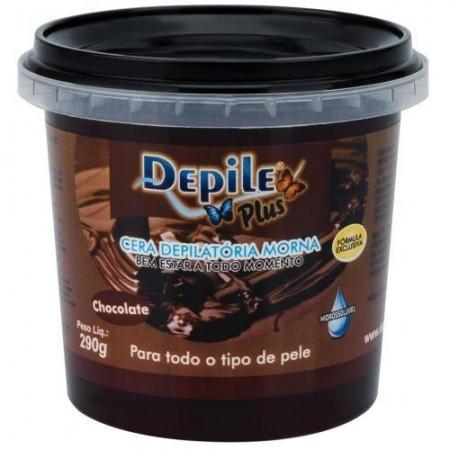 Cera Depilatória Chocolate 290g Hidrossolúvel