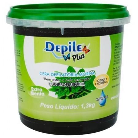 Cera Depilatória Extra Menta 1,3 KG Hidrossolúvel
