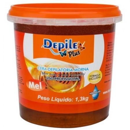 Cera Depilatória Mel 1,3 KG Hidrossolúvel