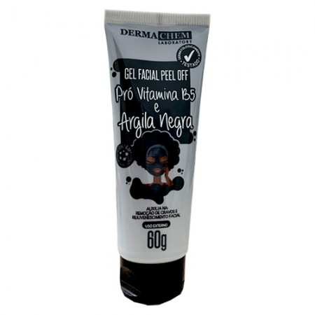 Gel Facial Peel Off Argila Negra 60G