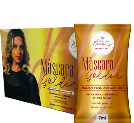 MÁSCARA GOLDEN NEW BEAUTY - KIT C/ 70 UNIDADES