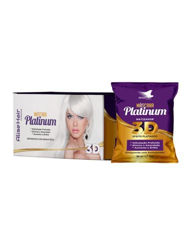 MATIZADOR PLATINUM ALISE HAIR 50ML - KIT C/ 24 UNIDADES