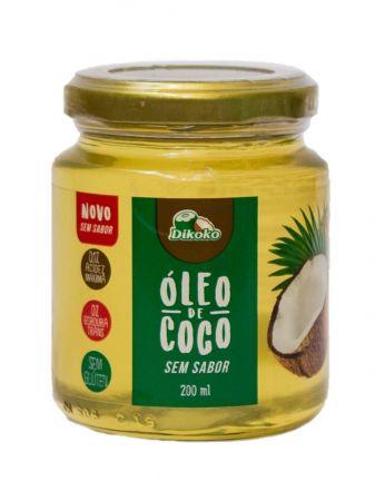 ÓLEO DE COCO SEM SABOR 200ML DIKOKO