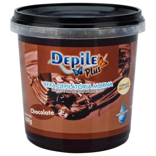Cera Depilatória Chocolate 600g Hidrossolúvel